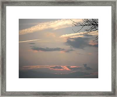 July Sunset Framed Print