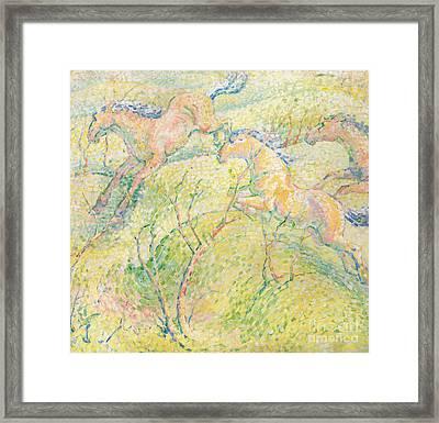 Jumping Horses Framed Print
