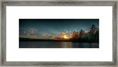 June Sunset On Nicks Lake Framed Print by David Patterson