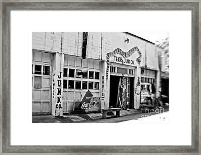Junk Company Framed Print by Scott Pellegrin