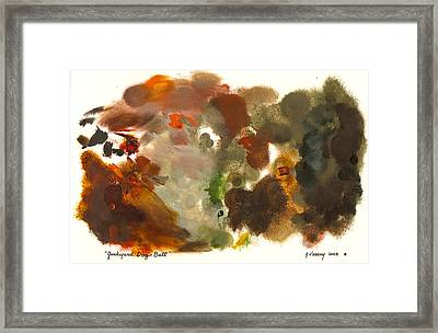 Junkyard Dog Ball Palette Framed Print