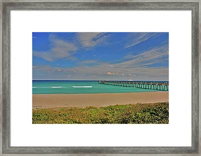 Framed Print featuring the photograph 1- Juno Beach Pier by Joseph Keane