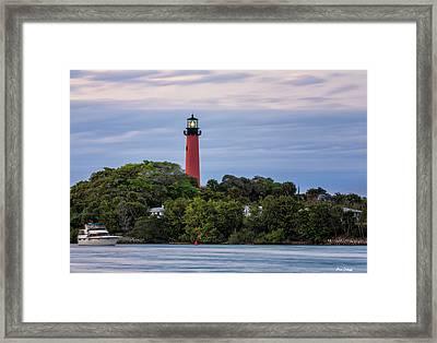 Jupiter Inlet Lighthouse Framed Print by Fran Gallogly