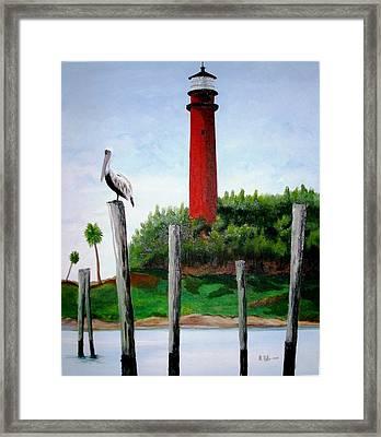 Jupiter Lighthouse Number Two Framed Print