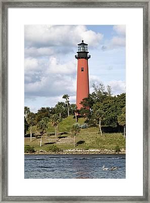 Jupiter Lighthouse Framed Print by Rudy Umans
