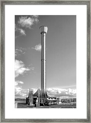 Jurassic Skyline Eye Tower  Framed Print by Baggieoldboy