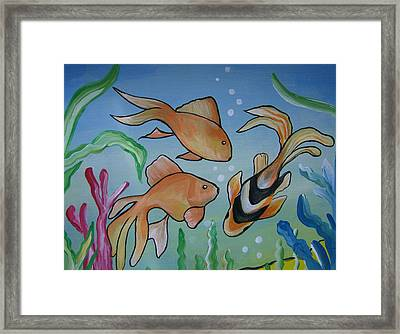 Just Fishy Framed Print by Leslie Manley