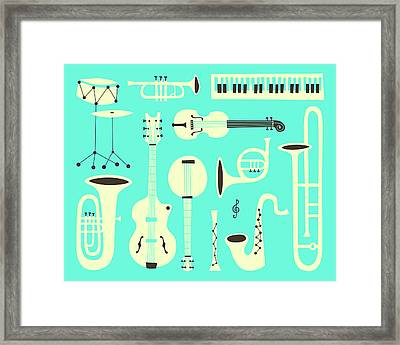 Just Jazz Framed Print by Jazzberry Blue