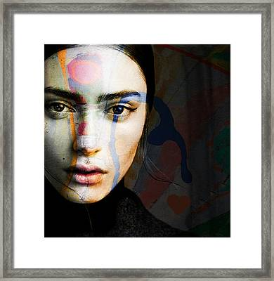 Framed Print featuring the mixed media Just Like A Woman by Paul Lovering