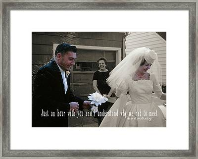 Just Married Quote Framed Print by JAMART Photography