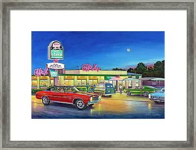 Muscle Car Cruise Night Framed Print