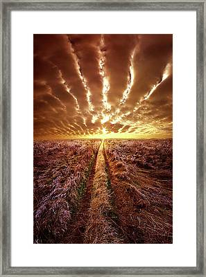Framed Print featuring the photograph Just Over The Horizon by Phil Koch