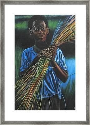 Justine Framed Print by Shahid Muqaddim