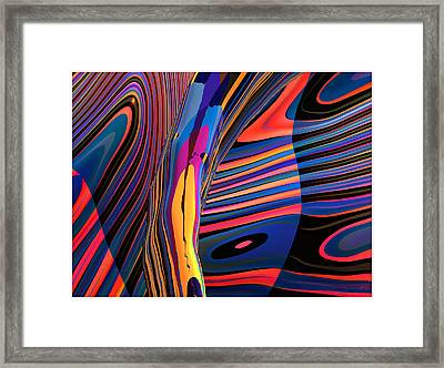 Kaleido-fa-callig. 10x11m37 Wide 11i Framed Print by Terry Anderson