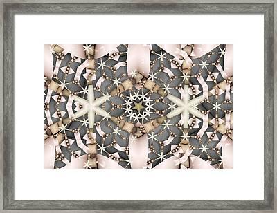 Framed Print featuring the digital art Kaleidoscope 97 by Ron Bissett