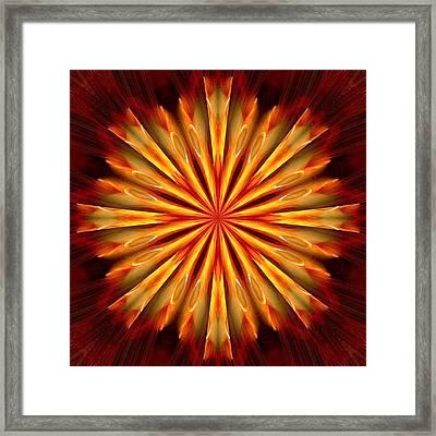 Kaleidoscope Of Fire Framed Print by Mark Lopez
