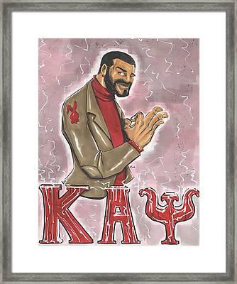 Kappa Alpha Psi Fraternity Inc Framed Print by Tu-Kwon Thomas