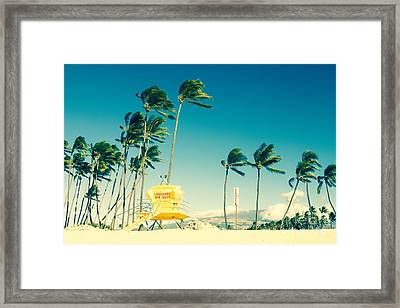 Kapukaulua Beach Maui North Shore Hawaii Framed Print