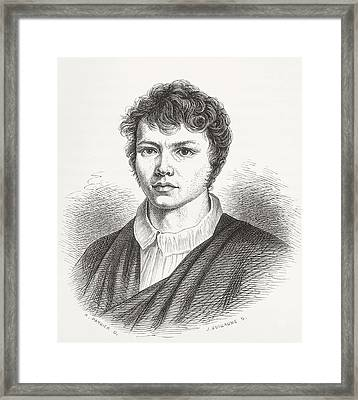 Karl Friedrich Schinkel, 1781 Framed Print by Vintage Design Pics