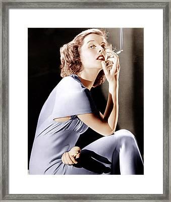 Katharine Hepburn, Ca. 1930s Framed Print by Everett