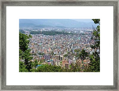 Kathmandu City In Nepal Framed Print