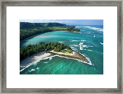 Kawela Bay, Looking West Framed Print by Sean Davey