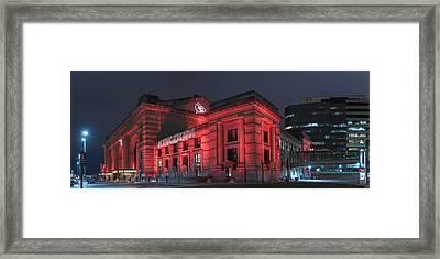 Kc Red Framed Print