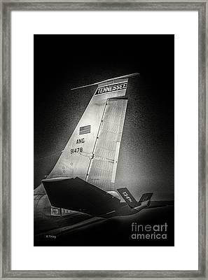 Kc_135 In Flight Refueling Tanker Framed Print