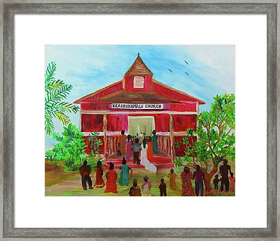 Kealiiokamalu Church, Haleiwa Hawaii Framed Print by Julie Patacchia