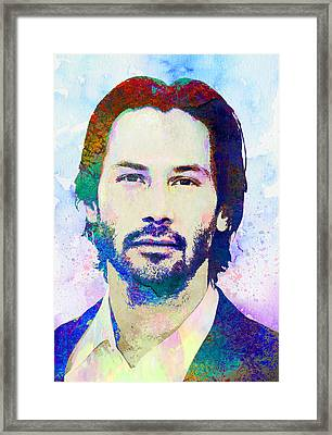 Keanu Reeves Framed Print