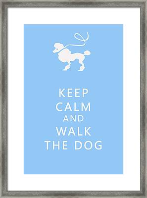 Keep Calm And Walk The Dog Framed Print