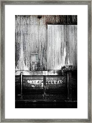 Keep Clear Industrial Art Framed Print