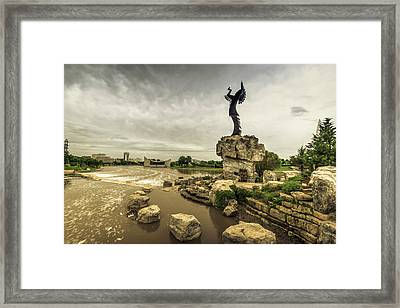 Keeper Of The Plains Framed Print by Chris Harris
