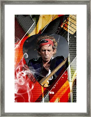 Keith Richards Art Framed Print by Marvin Blaine