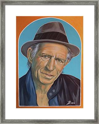 Keith Richards  Framed Print by Jovana Kolic