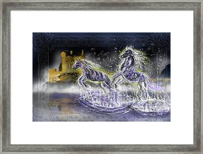 Kelpies Framed Print by Rob Hartman
