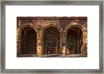 Kendall Hall Administration Building -  Cal State University Chico Framed Print