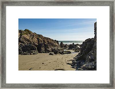 Framed Print featuring the photograph Kennack Sands by Brian Roscorla