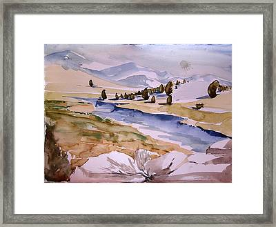 Kennedy Meadows Half In Winter Framed Print