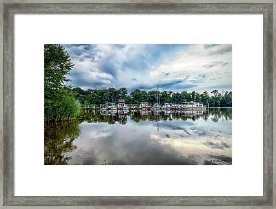 Kennersley Pt Marina Framed Print