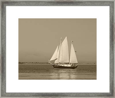 Ketch - Nantucket Harbor Framed Print