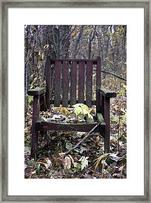 Keven's Chair Framed Print by Pat Purdy