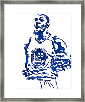 Kevin Durant Golden State Warriors Pixel Art 4 Framed Print