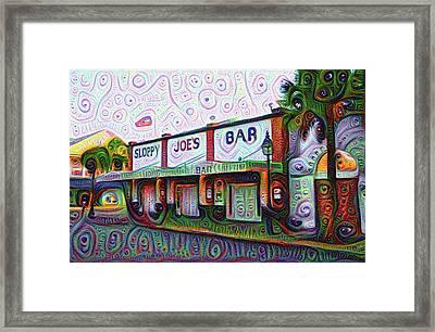 Key West Florida Sloppy Joes Bar Framed Print by Bill Cannon