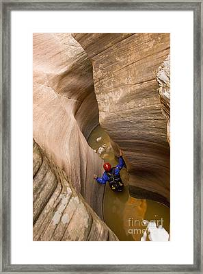 Keyhole Canyon, Zion, Utah Framed Print by Howie Garber