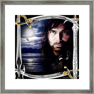 Kili With Swords Framed Print