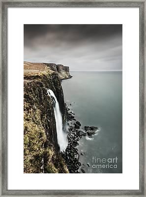 Kilt Rock Waterfall - Isle Of Skye Framed Print by Rod McLean