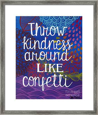 Framed Print featuring the painting Kindness by Carla Bank
