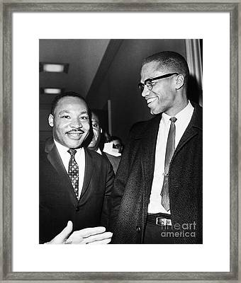 King And Malcolm X, 1964 Framed Print