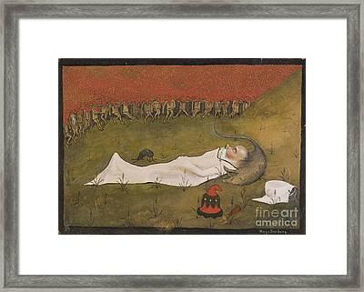 King Hobgoblin Sleeping Framed Print by Celestial Images